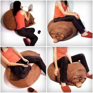 Кресло груша гризли